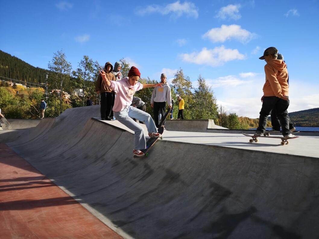 Skateparken i Åre är invigd.