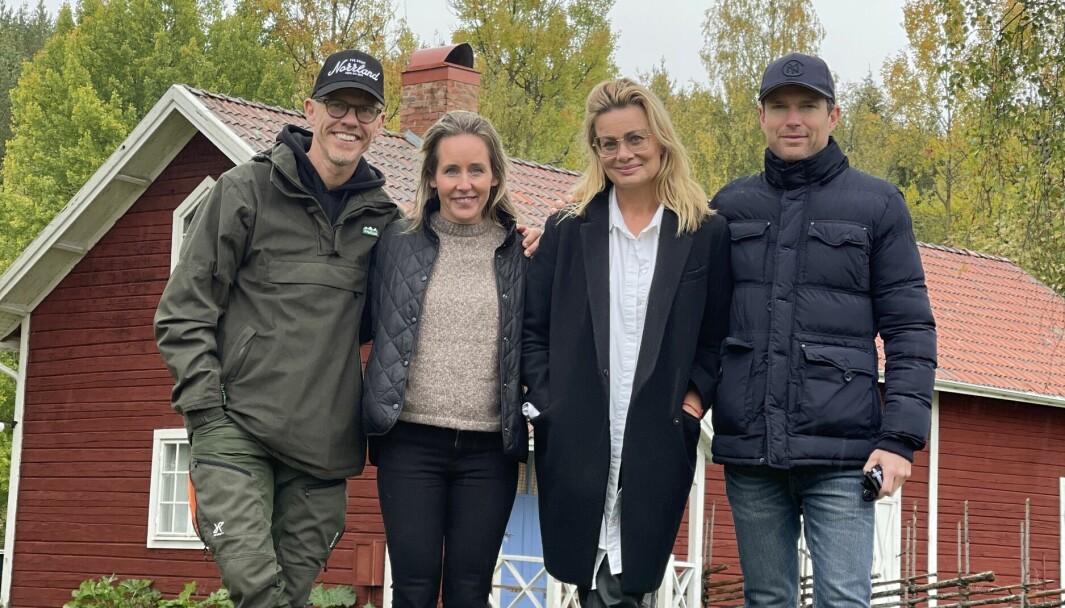 Bingo Rimér höll i en lyckad workshop för lokala företagare på Prästgården i Revsund. På bilden: Bingo Rimér, Karin Gydemo Grahnlöf, Linda Wasell, Alexander Klingstedt - workshopledare.