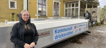 Giftigt dricksvatten i fastighet i Strömsund – kommunen sätter in vattentank