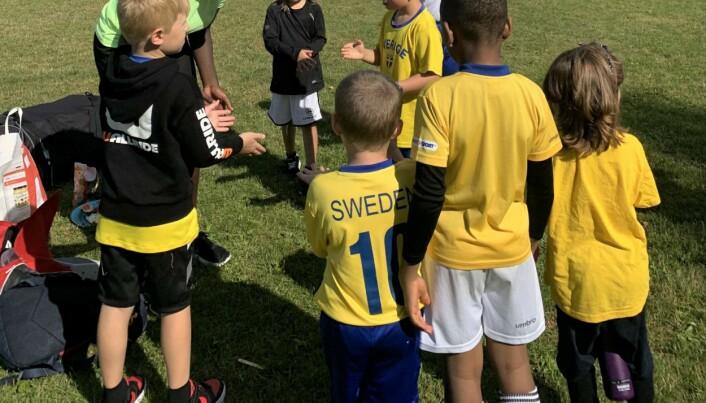 Från Precious fotbollsskola i somras.