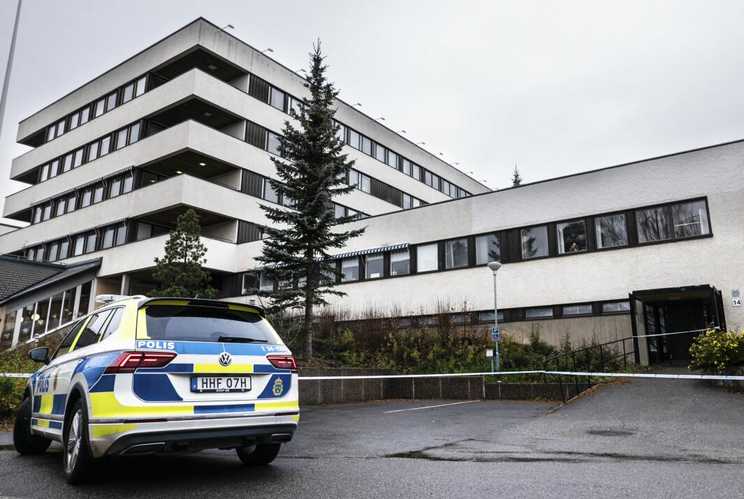 En stor polisinsats pågick på Frösön under torsdagen.